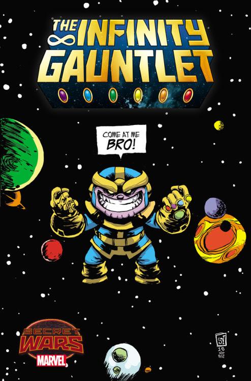 Infinity Gauntlet #1 Variant bySkottie Young