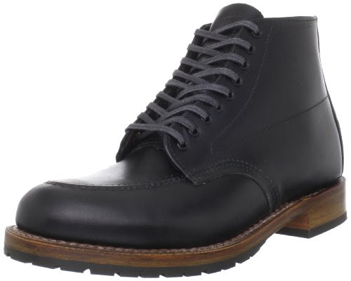 Red Wing Heritage Men's Beckman 6-Inch Embossed Moc Toe Boot,Black,10 D US