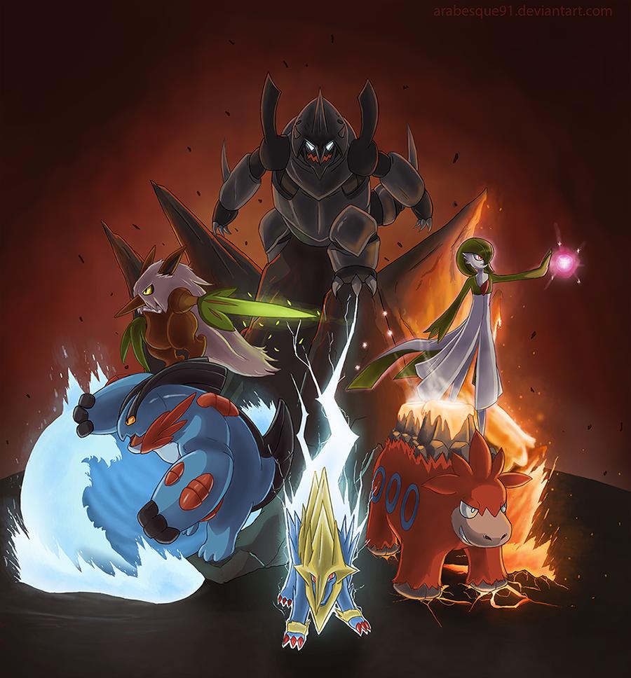 Pokemon  Omega Ruby Team by Arabesque91 on DeviantArt