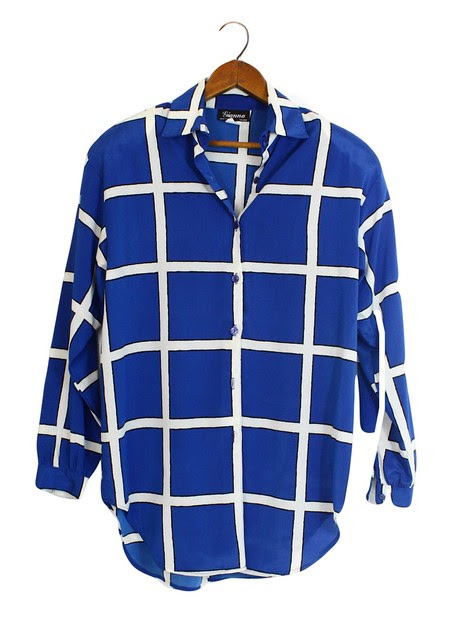 window pane print shirt