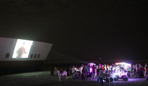 A screening at Seaview Waterfront.