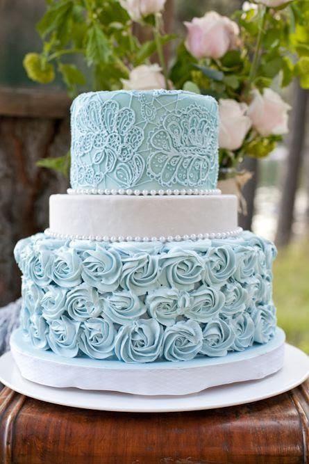 Southern Blue Celebrations Light Blue Wedding Cakes