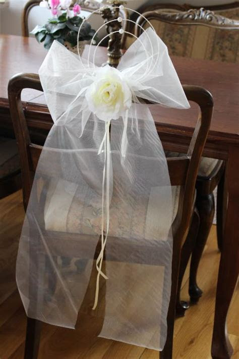 pew  bows wedding church christening venue decor  big