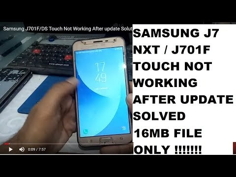 Samsung J701F Touch Not Working After update Solution here