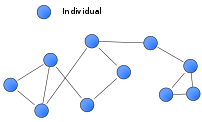 An example of a social network diagram.