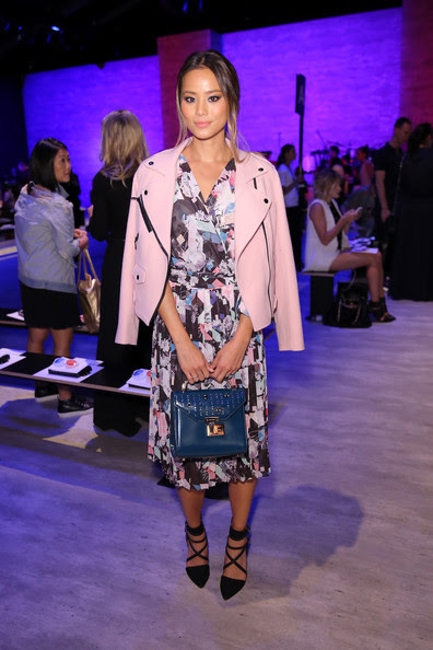 Jamie Chung - Rebecca Minkoff - Front Row - Mercedes-Benz Fashion Week Spring 2015