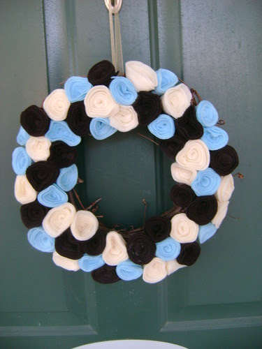 Felt Rose Wreath
