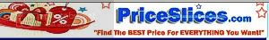 Price Slices Shopping Purchase Retail Stores and Web Merchants Shopping Cart Pricing Comparisons to Find Your Lowest Costs For Everything and Anything You Want
