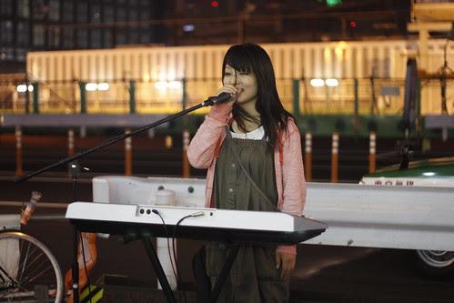 Yui Ibuki at the South Exit of Shinjuku Station
