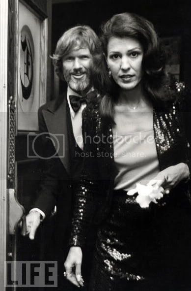 Rita Coolidge e Kris Kristofferson, algures nos 1970's