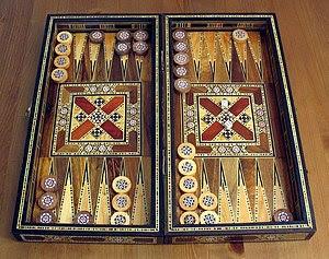 A backgammon board from Lebanon.
