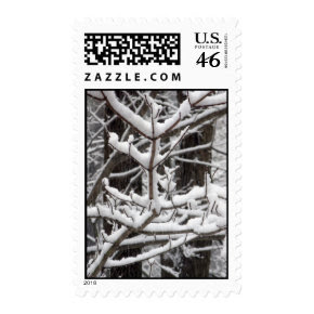Snow-covered Branches - Medium stamp