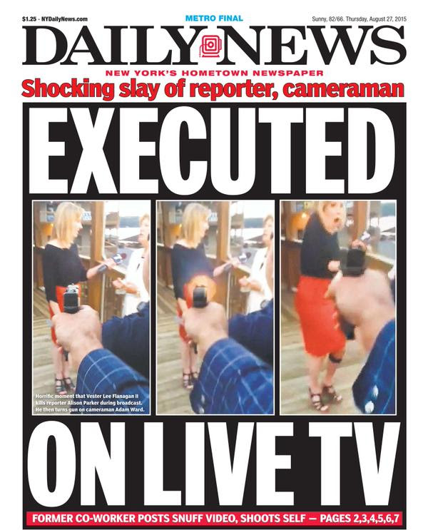 Uproar over tabloid coverage of Virginia TV shooting ...
