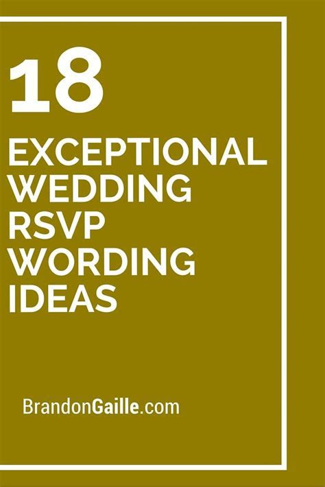 18 Exceptional Wedding RSVP Wording Ideas   Messages and