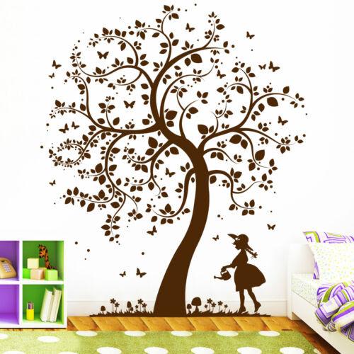 Dekoration Wandtattoo Baum Mit Madchen Eule Elfe Fee Prinzessin Blume Baumchen 10397 Pgm Com Pe