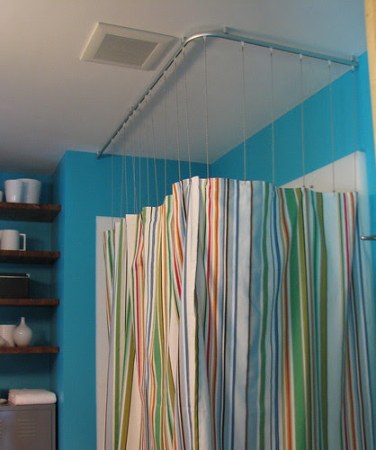 Modern in MN: Long Drop Shower curtain