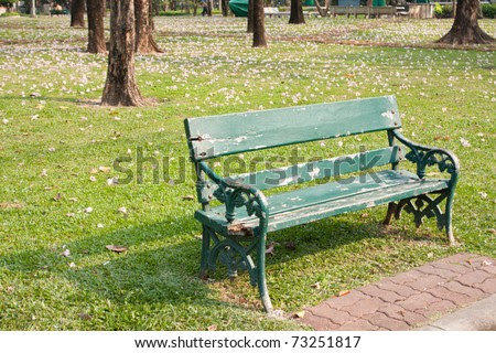 Bench In The Park Benches Are Provided Sit In The Garden. Stock ...