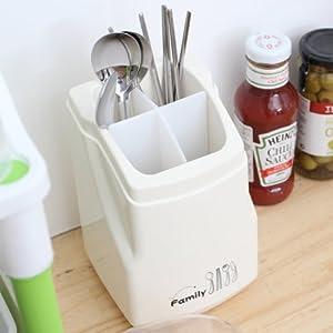 Amazon.com: Clear Plastic Flatware Utensils Caddy Kitchen Home ...