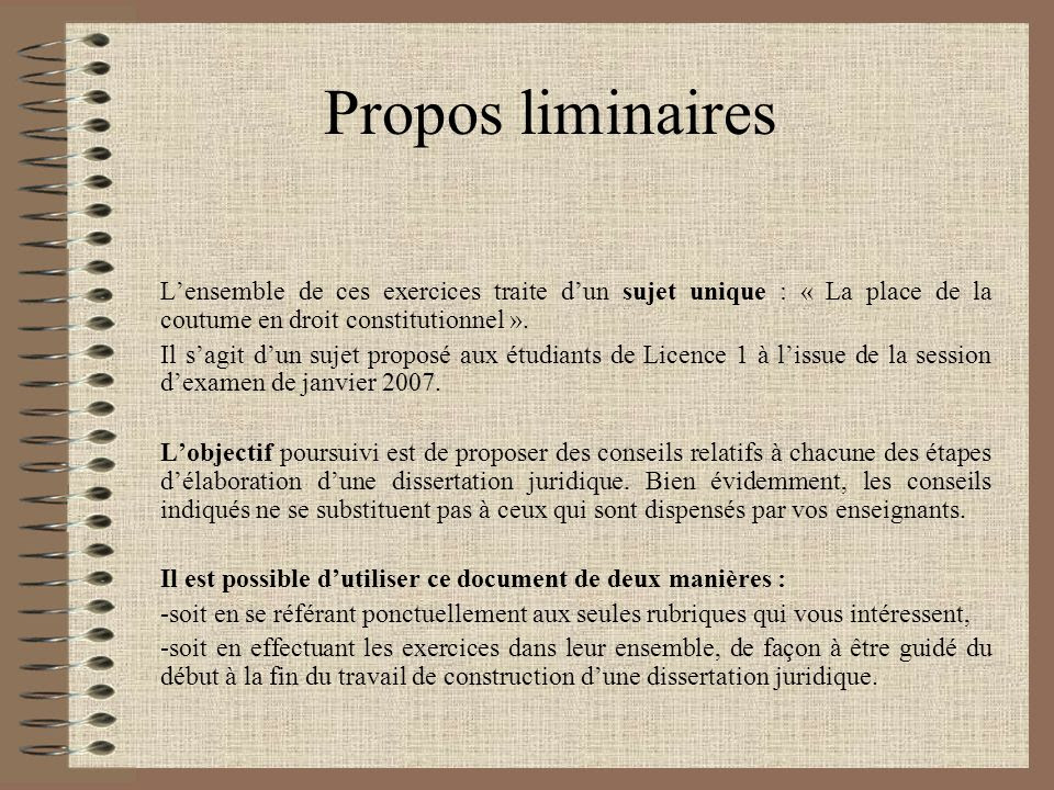 Commentaire De Texte Droit Constitutionnel L1 Exemple - Le ...