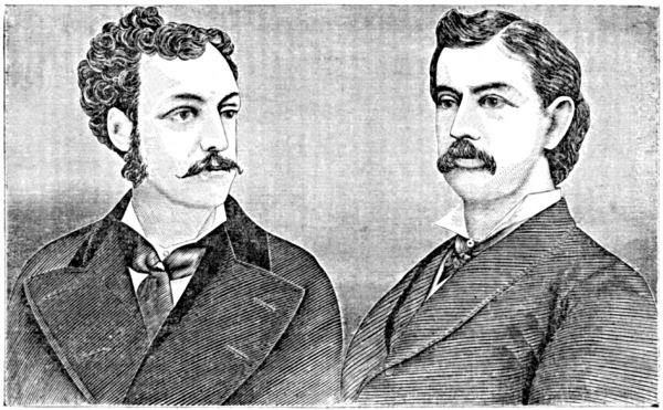 Portraits of the two late actors