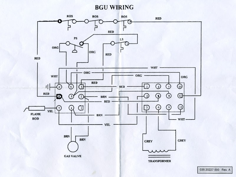 diagram natural gas wall heater with thermostat wiring