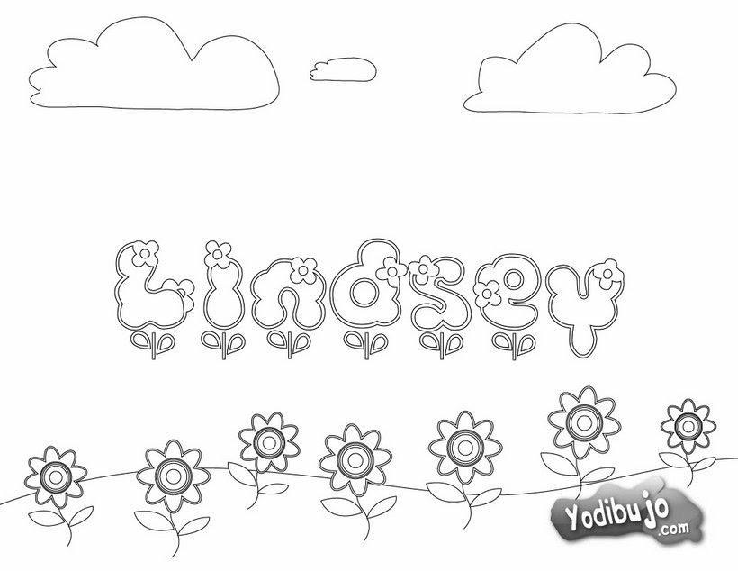 Dibujos Para Colorear Nombres Es Hellokids Com