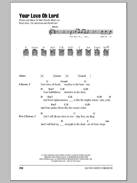 Your Love Oh Lord Lyrics And Chords