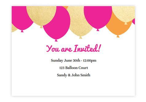 Animated Online Birthday Invitations