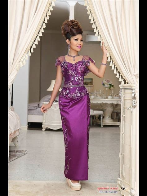 Cambodian dresses for celebrate Khmer new year or wedding