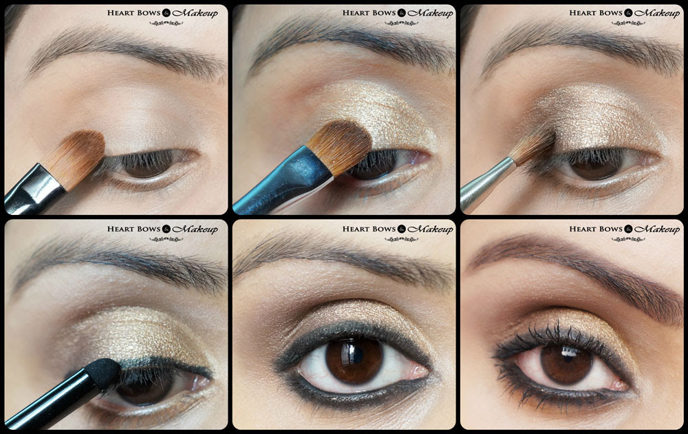 Gold Smokey Eye Makeup Tutorial: Diwali Special! - Heart ...