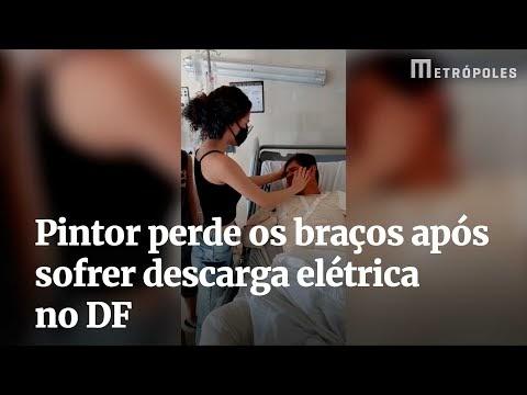 Vídeo: filhos reencontram pintor que perdeu os 2 braços após sofrer choque elétrico
