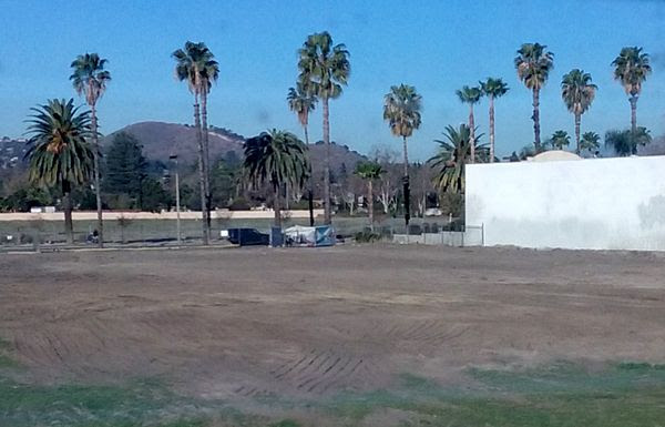 There is no longer any sign of the old abandoned house that once stood on a vacant dirt lot behind my home in Pomona, CA...on January 31, 2018.