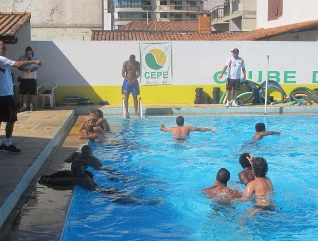 treino do Flamengo em Macaé (Foto: Richard Fausto de Souza / Globoesporte.com)