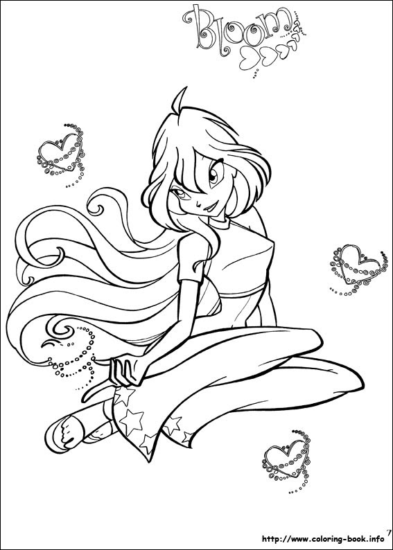 The Winx Club Images Colouring Pages Hd Wallpaper And Background