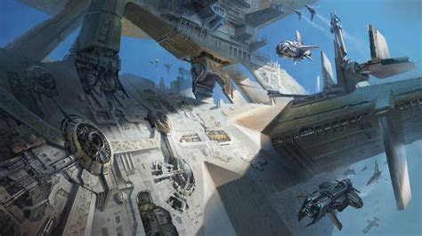 fantasy art machines spaceships science fiction transports