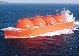 A Tanker could hold unto 300 Tons of LNG