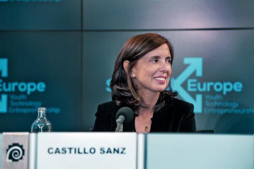Eva Castillo durante la Cumbre de Innovación StartUp Europe. 2012.