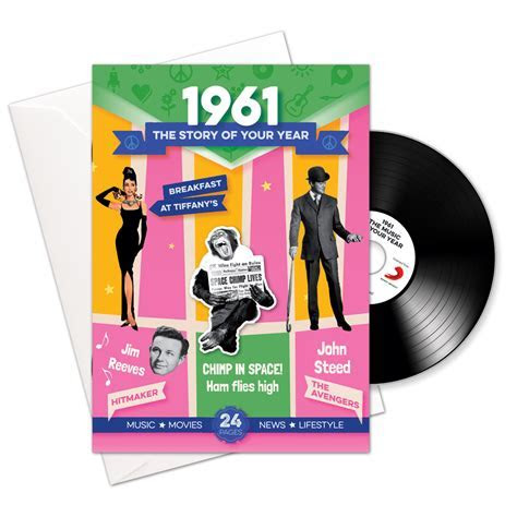 58th Anniversary or Birthday gifts ~ Booklet , Music