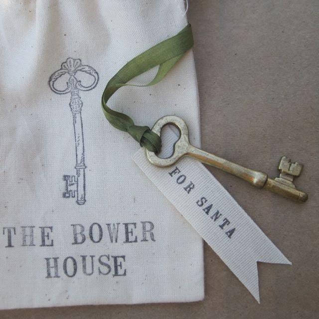 Santa's Key in custom cloth bag by Paloma's Nest
