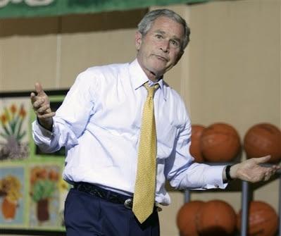 Bush & the basketball game of doom, 6.16.08   9