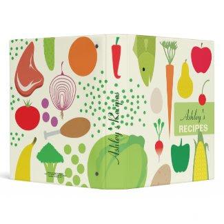 Personalized Food Recipes Binder binder