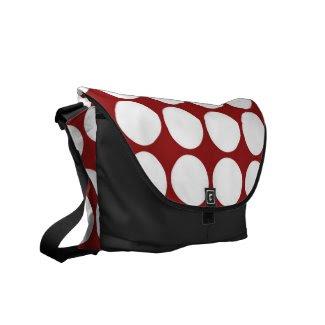 White Polka Dots on Red Messenger Bag