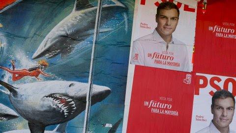 Cartel de campaña del PSOE. REUTERS
