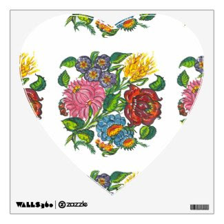 hungarian flowers in a heart shape room graphics