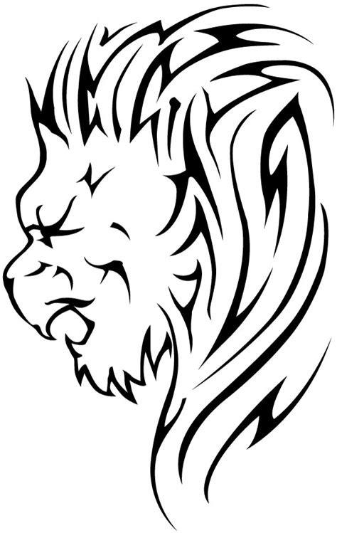 black tribal lion tattoos designs