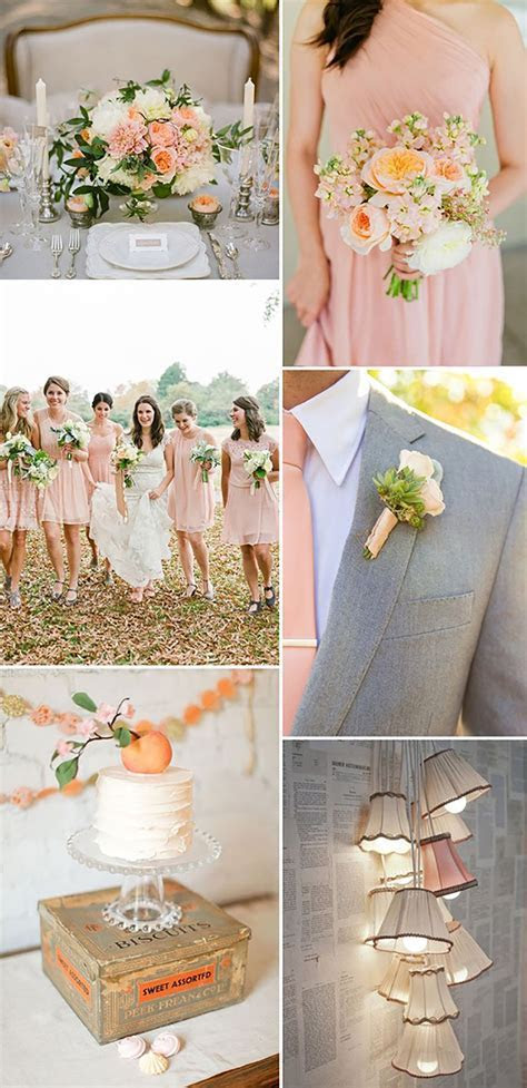 Pastel Peach Wedding Table Decorations   CHWV