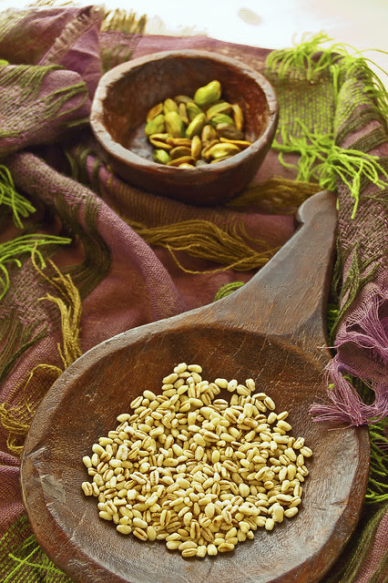 Wheat berries & Pistachios