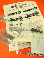Maqueta de coche 1/43 Model Factory Hiro - BRM H-16  Nº 14 - Jackie Stewart - Gran Premio de Belgica 1967 - kit multimaterial image