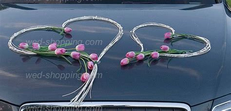 Wedding Car Decoration Kit Tulip and Rattan Hearts