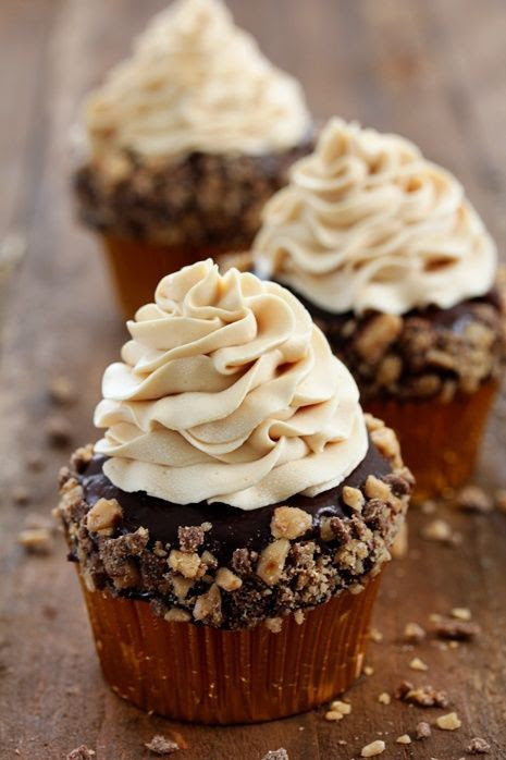 Toffee Crunch Cupcakes. The next cupcakes I make will be these. I just have to find an occasion